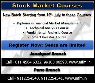 New Batch is starting for Stock market courses from 10th July in Janakpuri, Delhi and Pune Branch