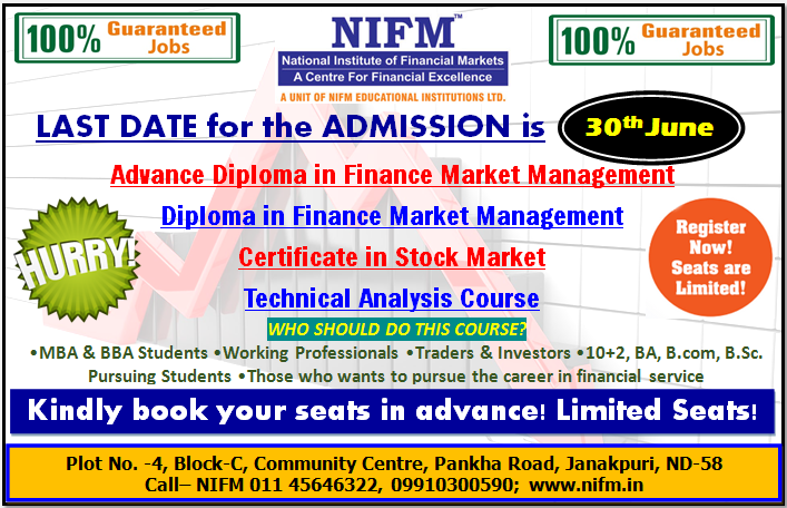 30th june will be the last date for 100 Percentage Job Guaranteed Courses