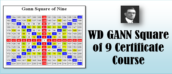 NIFM - W D GANN Square of 9 theory online classes for