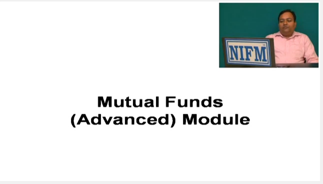 NIFM Certified Mutual Fund Advanced Video-2
