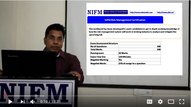 NIFM Risk Management in Stock Broking Company English Video-1