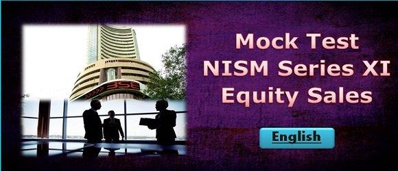 Mock Test NISM Series XI Equity Sales