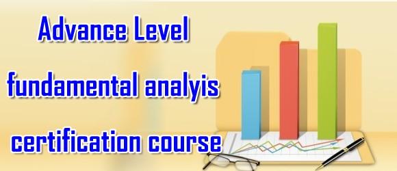 Advanced Level Fundamental Analysis Certificate Course