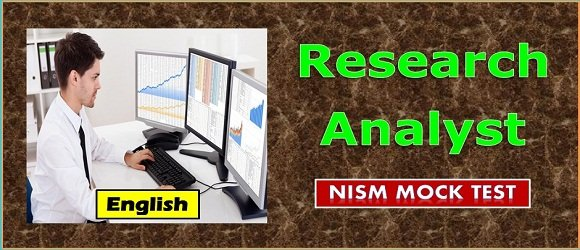 Mock Test Research Analyst NISM Series XV Certification Exam