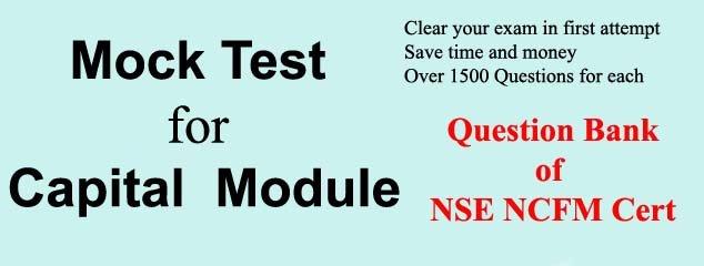 Mock Test NCFM Capital Market