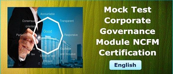 Mock Test Corporate Governance Module NCFM certification