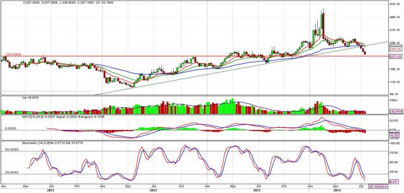 Natural Gas Weekly Technical Outlook 28.07.2014