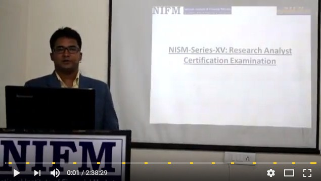 SEBI NISM Series XV Research Analyst Course Video Complete