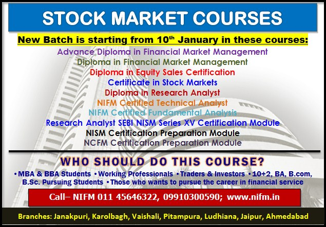 New Batch for stock market is starting from 10th January
