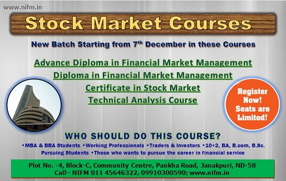 New batch is starting from 7th dec in Offline stock market course