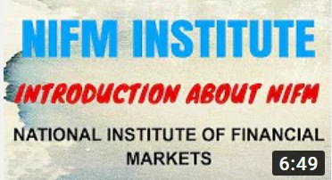 NIFM National Institute Of Financial Markets Introduction